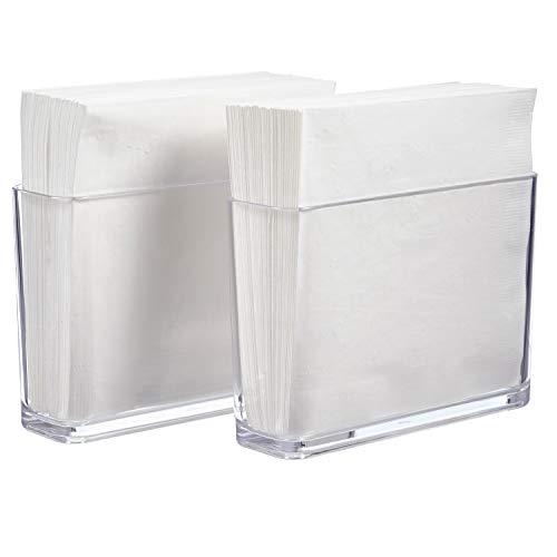 STORi Clear Plastic Holder for Napkins and Plastic Utensils | set of 2 ()