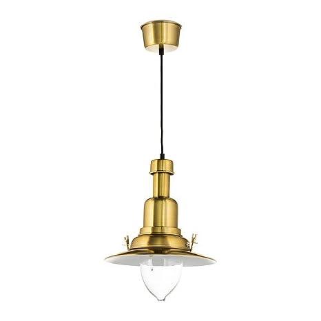 Ikea Ottava - Lámpara de techo en latón; A + +: Amazon.es ...