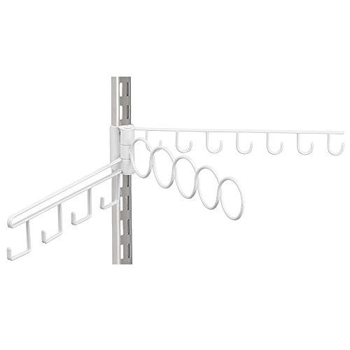 InterDesign Wire Shelf Track Closet Accessory Organizer, White