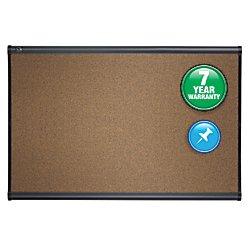 Quartet Cork Board, 3' x 2', Prestige Bulletin Board / Corkboard, Graphite Finish Frame (B243G)