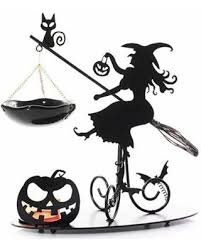 Yankee Candle Flying Witch Tea Light Holder