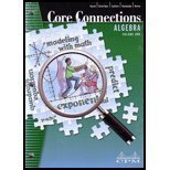 img - for Core Connections: Algebra, Version 5.0, Second Edition, Volume 1 book / textbook / text book