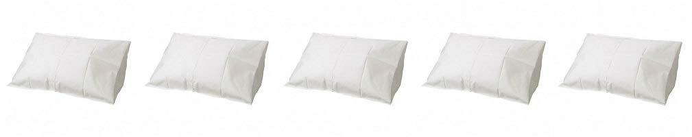Tidi Tissue Poly Paper Pillow Case, White, 100 Count (5-(Pack))