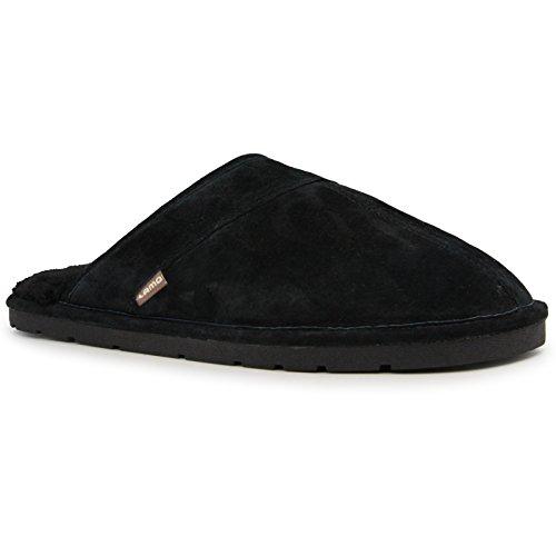 Pictures of Lamo Men's Scuff Slipper - Suede Shoe Black 4