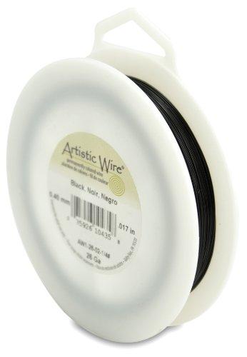 Artistic Wire 26-Gauge Black Wire, 1/4-Pound
