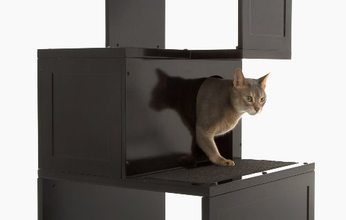 Amazoncom  The Sebastian Modern Cat Tree in Black  Modern Cat