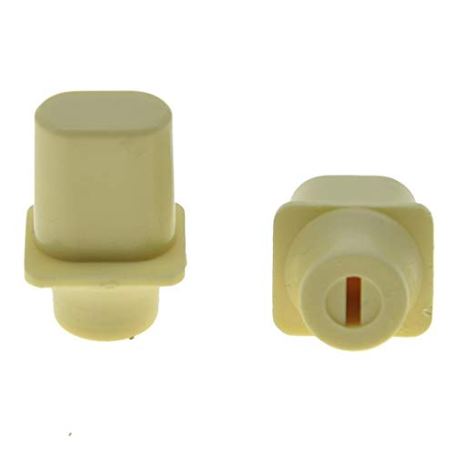 KAISH Pack of 2 Ivory Vintage Top Hat Switch Tip 3 Way or 4 Way Pickup Selector Switch Knobs for U.S. Tele/Telecaster (Switch Tip Telecaster)