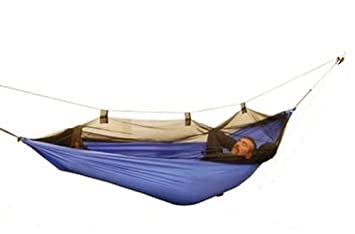 Parachute Nylon Hammock w Mosquito Netting Cover, Assorted colors