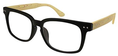 Edge I-Wear 80's Horned Rim Frame Reading Glasses 540695-+2.50-8 Matte Black/Light - Eco Frames Friendly Glasses
