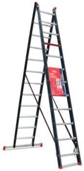 Multiusos escalera, revestimiento de aluminio 2 piezas, Azul, 2 x 12 peldaños – anlegel eitern espalderas Escaleras multifunción Escalera multiusos Escaleras combinado Escaleras de aluminio espalderas Escaleras anlegel eitern espalderas Escaleras ...