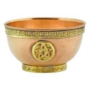 Cobre Cuenco con pentagrama de Native de Spirit