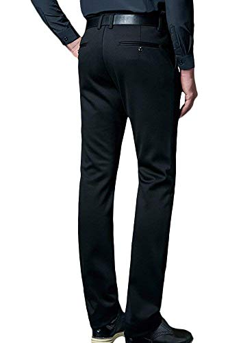 Homme Schwarz Garçons Pantalon Casual Chinois Costume Travail D'affaires Fit Slim Formel Bureau Nero Classique H7wR6