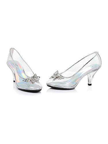 Ellie Shoes Women's 305-CINDER, Clear, 9 B ()
