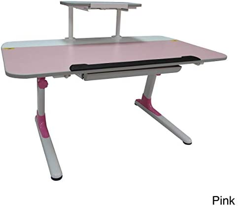 ORE International Kid s Ergonomic Desk with Keyboard Tray, Pink