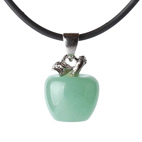 MATT HANN Apple Pendant Original Handmade Grouding Stone Protection (Green Stone B)