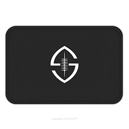 Flannel Microfiber Non-slip Rubber Backing Soft Absorbent Doormat Mat Rug Carpet Football Ball Logo S Letter Shaped Creative Idea Rugby Sport Team Emblem Template 379818910 for (Creative Team Costume Ideas)
