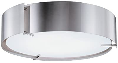 Lithonia Lighting 11762 PST M2 Inertia Energy Star Flush Mount Ceiling Light, Polished Steel