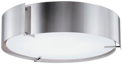 Lithonia Lighting 11762 PST M2 Inertia Energy Star Flush Mount Ceiling Light, Polished Steel