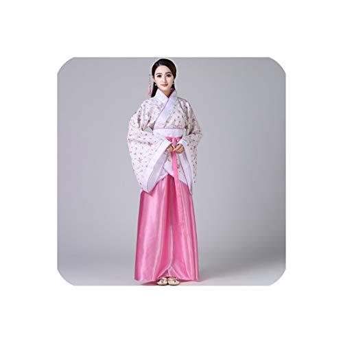 Hanfu Emboridery Traditional Chinese Style Dance Costumes Dramaturgic Dress,Style 8,XL(170-175Cm) -