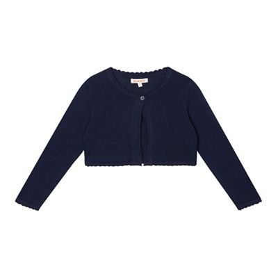 bluezoo Girls' Navy Cardigan Age 1-6 Years