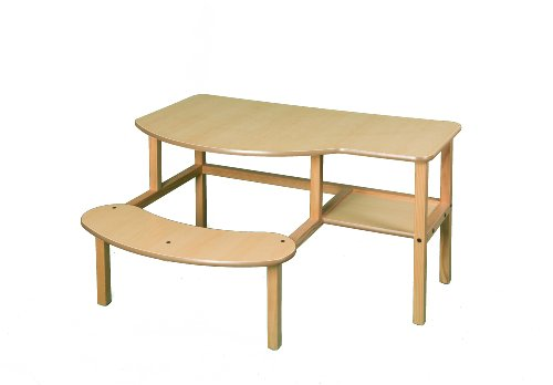 [Wild Zoo Furniture Childs Wooden Computer Desk for 1 to 2 Kids, Ages 2 to 5, Maple/Tan] (Full Size Maple Computer Desk)