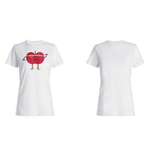 Neue Apfelfrucht Leckere Neuheit Damen T-shirt l363f