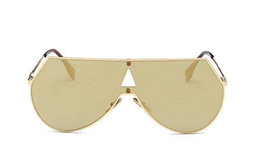 cadre Net Version gold soleil lunettes Trend de homme de film frame siamois métal LSHGYJ Glsyj grand coréenne soleil Lunettes couleur earth de Rouge soleil lunettes Gold x4q1Pn0Tfw