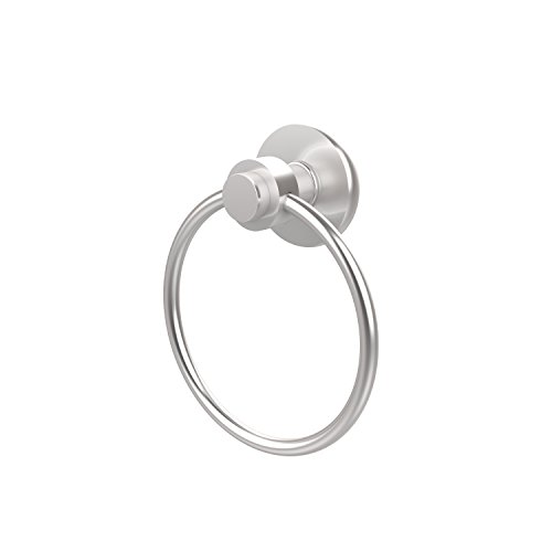 - Allied Brass 916-SCH Mercury Collection Towel Ring, Satin Chrome