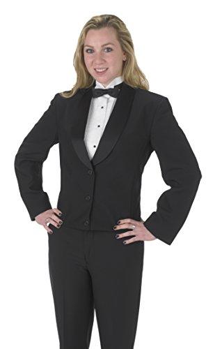 (Averill's Sharper Uniforms Women's Ladies 3 Button Shawl Eton Jacket 2 Black)