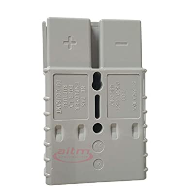 350A Battery Connector AWG 2/0 Quick Connect Battery Modular Power Connectors Quick Disconnect (Grey): Automotive