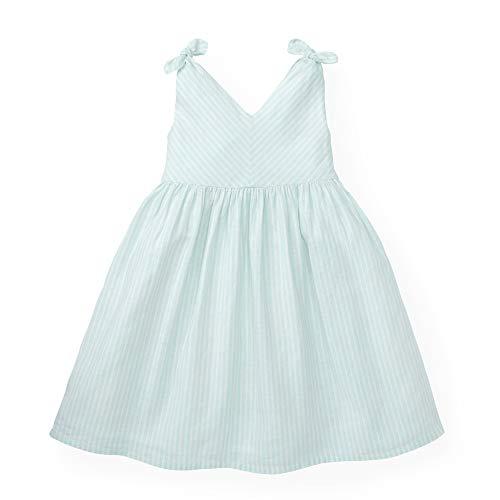Henry Mint - Hope & Henry Girls' Mint Bow Shoulder Dress