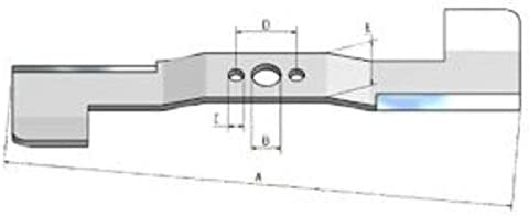 Cuchillo Cuchilla de repuesto para cortacésped Honda Izy HRG 465
