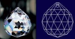 "50mm 2"" 30% Lead Crystal Ball #701-50"