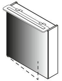 Lanzet Spiegelschrank 60L Weiß L6