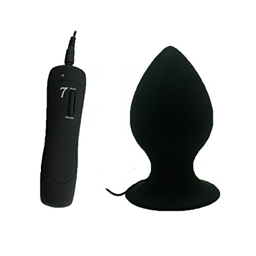 Super Big Size 7 Mode Vibrating Silicone Butt Plug Large Anal Vibrator Huge Anal Plug Unisex Erotic Toys Sex Products S M L Black L Size