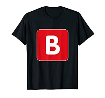 Amazon.com: B Emoji Letter Meme T-Shirt: Clothing