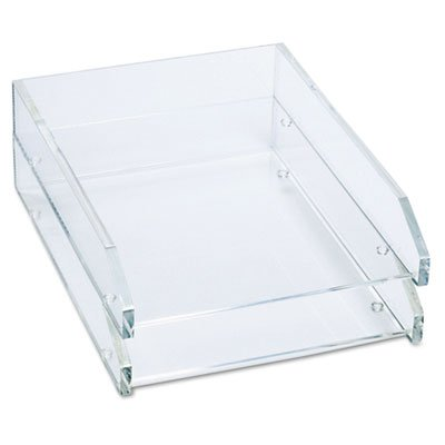Double Letter Tray, Two Tier, Acrylic, Clear, Sold as 2 Each