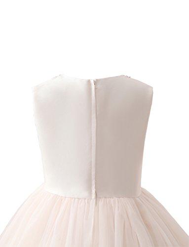 für Mädchen Hochzeiten Bördeln Mit Rundhals Kleine kleiden Erosebridal Blumenmädchenkleider q0wOFxBH
