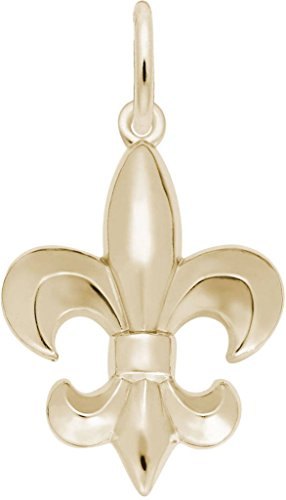 Rembrandt Ornate Fleur De Lis Charm - Metal - 10K Yellow Gold