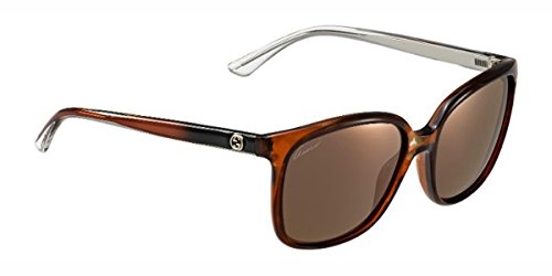 Gucci - GG 3696/S, Oversize, acetate, women, CARAMEL HAVANA/BROWN GOLD MIRROR(H67/LC), - Sunglasses Gucci Mirror Gold