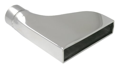 """2.25"""" Inlet x Rectangular Outlet x 9.5"""" OAL Vibrant Stainless Steel Rectangular Exhaust Tip (Single Wall/Camaro Style)"""