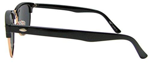 Idéal et polarisés Vintage Celebrity Fumée noir lunetterie les cadre visages Lentille 80 Rimmed Regardez de Retro de Lunettes soleil Horn Vox or Classique pour petits OwxRI