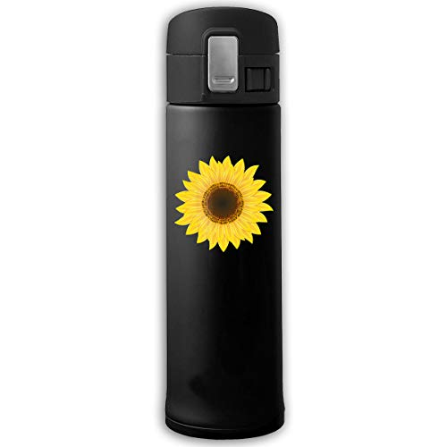 15oz Stainless Steel Vacuum Insulated Cup, Classic Sunflower Clipart Insulated Thermoses Cup (0.5L)