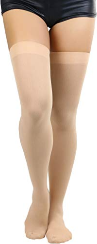 - ToBeInStyle Women's Long Schoolgirl Stockings (Beige)