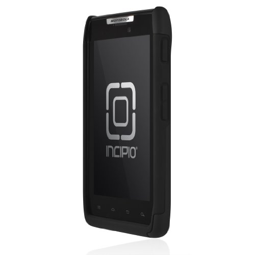 Incipio MT-170 Motorola Droid RAZR SILICRYLIC Hard Shell Case with Silicone Core - 1 Pack - Retail Packaging - Black/Black
