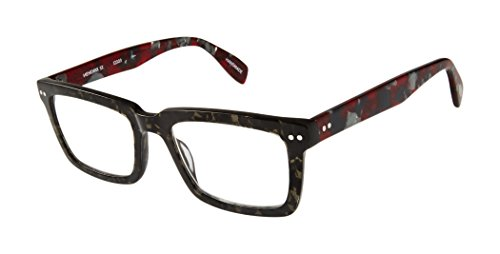 Hendrix Street - Square Trendy Fashion Reading Glasses for Men and Women - Caviar/Merlot (+1.50 Magnification Power) (Scojo Glasses Street Reading)