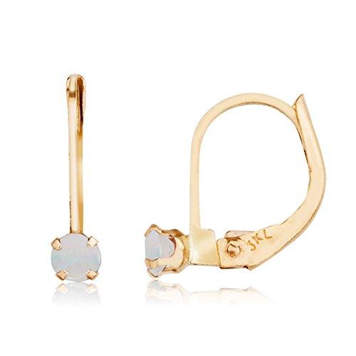 Jewels By Lux 14k Opal Leverback Earrings (0.08 ()