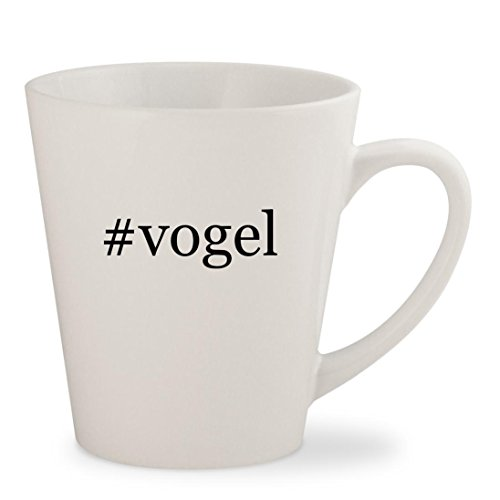#vogel - White Hashtag 12oz Ceramic Latte Mug - Sunglasses Jim Mia