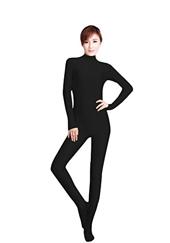 WOLF-UNITARD-Womens-Long-Sleeve-Bodysuit-Stretch-Dancewear