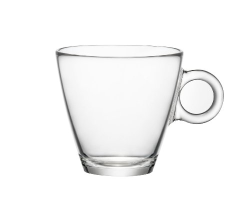 Bormioli Rocco Easy Bar Cappuccino Cups, Clear, Set of 12